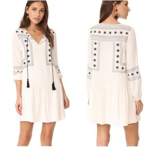 Cupcakes & Cashmere Embroidered Ivory Dress Small